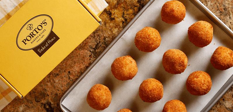 A sheet of Potato Balls